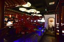 中式古典风格的餐厅内景