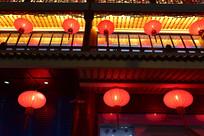 古建筑与大红灯笼