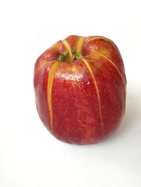 红苹果分切素材