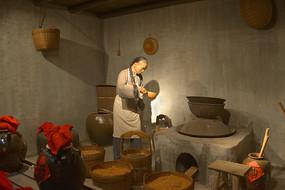 深圳广府民俗文化-酿酒作坊雕塑