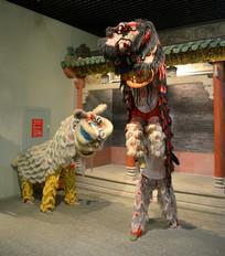 广东南狮舞狮雕塑