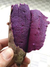 熟的紫薯美食