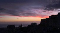 意大利阿格里真托城市夜空