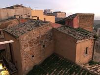 意大利小镇红砖民居