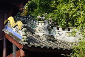 中式门楼灰塑装饰
