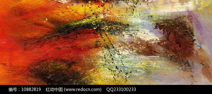 抽象油画艺术壁画图片