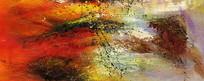 抽象油画艺术壁画