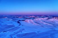 航拍雪域山地雪野