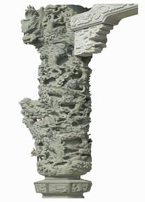 中国岭南地区建筑-龙柱