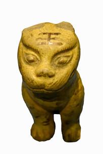 成都明代彩釉陶虎俑