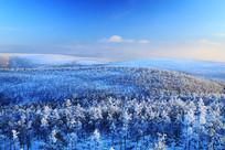 大兴安岭冬季雪域山林雾凇