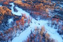 大兴安岭雪河