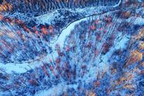 大兴安岭雪河红柳风光