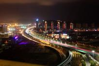 青岛公路夜景