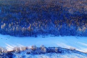 大兴安岭雪域冰河密林雾凇
