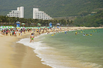 深圳小梅沙的海滨浴场