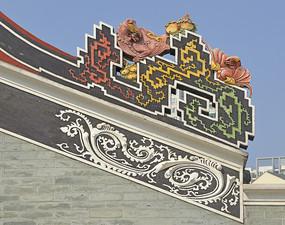 深圳下沙黄氏宗祠垂脊雕塑装饰