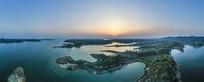 信阳南湾湖落日