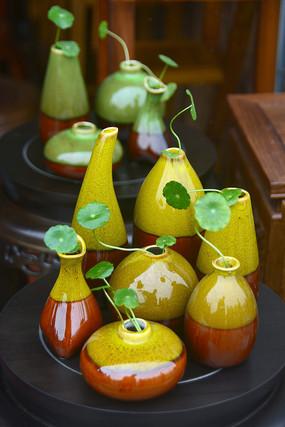 陶艺花瓶插花摆件