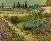 阿勒花园油画