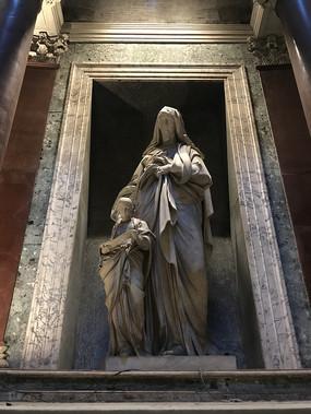 古罗马大教堂雕塑