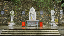 肇庆七星岩东方禅林-西方三圣石雕