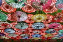中国纸伞背景