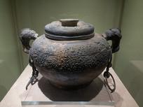 战国文物铜缶
