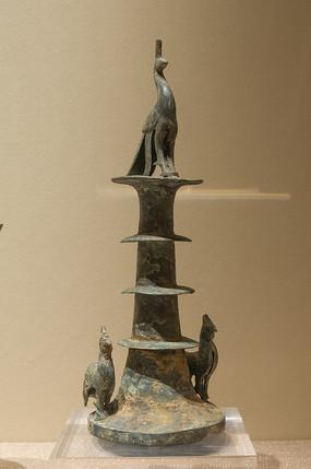 西汉文物孔雀雉鸡