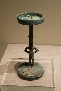 战国文物青铜灯