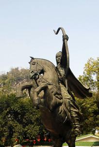 桂林伏波山马援塑像