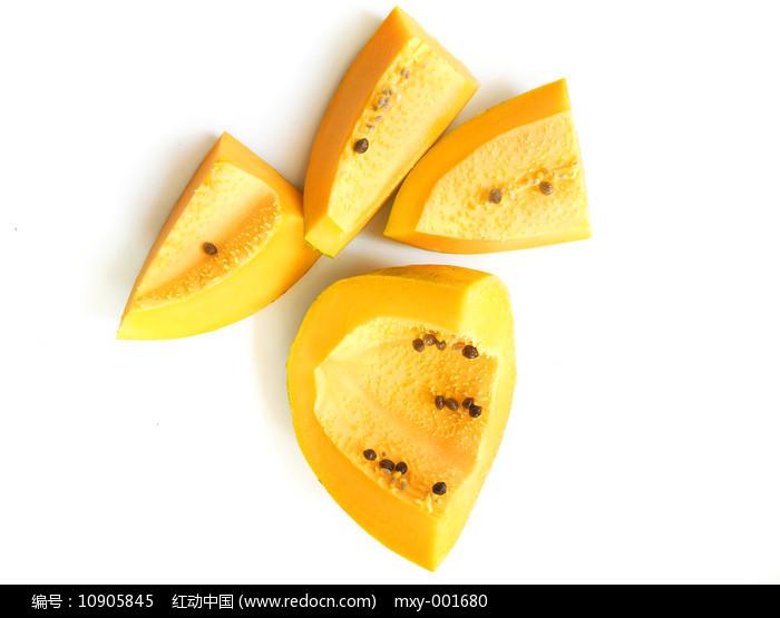 切半木瓜图片