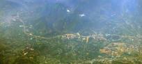 航拍广西贺州城市