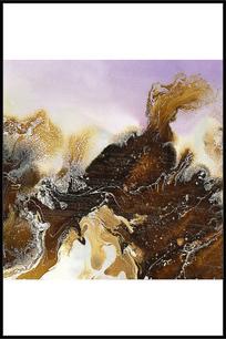 流体艺术水墨装饰壁画