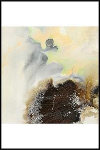 新中式禅境水墨壁画
