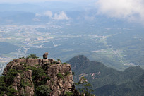 黄山奇石景观-猴子望太平