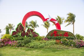绿植雕塑景观