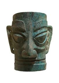 商代三星堆文物铜人面具