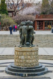 沈阳中山公园广场儿童群雕像