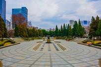 沈阳中山公园广场全景俯视图