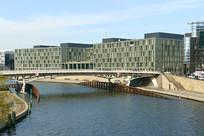 德国柏林城市及施普雷河