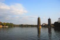 桂林标志建筑-日月双塔