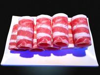 一盘牛肉卷