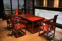红木家具官帽椅方桌