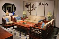 现代风格红木沙发