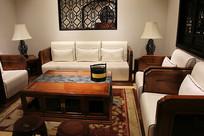 现代红木沙发