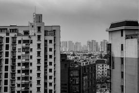 黑白城市图片