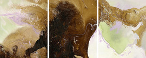 三联组合水墨艺术画