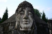 释迦佛像佛头石雕