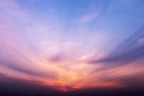 黎明时候的彩霞素材